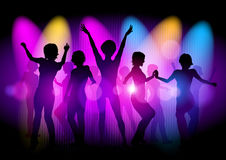 Discotheque. Vector illustration of clubbing people Stock Photos
