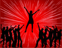Discotheque. Work with vectors, jpg  + eps 8 Royalty Free Stock Photo