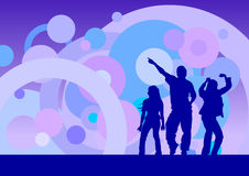 Discotheque. Dancing people background, vector illustration royalty free illustration