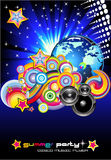 Discotheque Colorful Background for Flyers. Abstract Discotheque Colorful Background for Flyers stock illustration