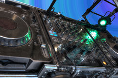 Discotheque. Disc jockey's sound system Stock Images