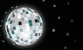 Discotheque globe. Disco globe on black background Stock Photos