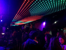 Discotheque Night Club. Light roof in a Discotheque night club Royalty Free Stock Photos