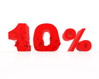Discount 10%. Signs showing 10% discount and clearance Stock Photography