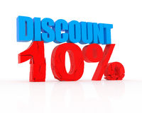 Discount 10%. Signs showing 10% discount and clearance Royalty Free Stock Images