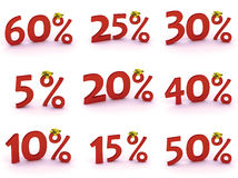 Discount. Simbol of red discount on the white background Stock Illustration