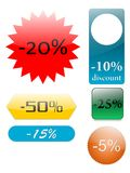 Discount. Set of discount icons, created with inkscape Royalty Free Stock Photography
