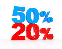 Discount from 20 to 50% Royalty Free Stock Image