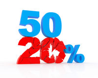 Discount from 20 to 50% Stock Photography