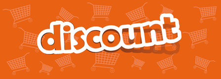 Discount. Vector discount; realistic cut, takes the background color stock illustration