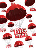 Discount 3d concept. Big sale - discount 3d concept Stock Photos