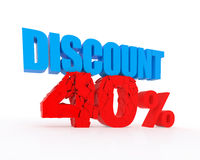 Discount 40% Stock Image