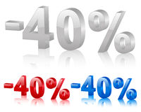 Discount 40% Royalty Free Stock Photography