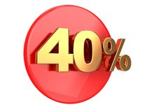 Discount 40 percent Stock Photography