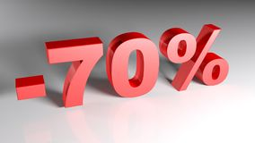 Discount 70% - 3D rendering Royalty Free Stock Photography
