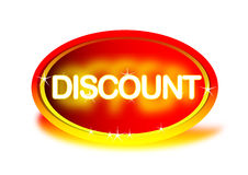 Discount. Logo created in illustrator. can use for advertisements Stock Photography