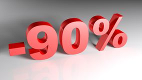 Discount 90% - 3D rendering Royalty Free Stock Photos