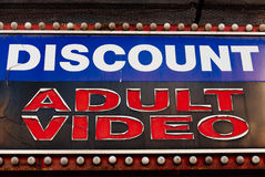 Discount Adult Video Royalty Free Stock Photography