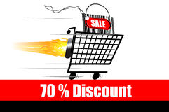 Discount advertisement Royalty Free Stock Image