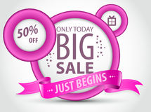 Discount Advertisement. Big sale discount advertisement poster Royalty Free Stock Photo