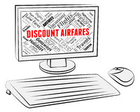 Discount Airfares Indicates Current Price And Aircraft Royalty Free Stock Photo