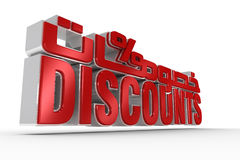 Discount with Arabic. Discount Text in perspective with Arabic on top Stock Image