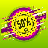 Discount badge, stamp, sticker, tag, label. Discount badge, stamp, sticker, tag, label Sale poster Fifty percent offer Royalty Free Stock Photos