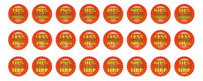 Discount badges Stock Image