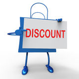 Discount Bag Shows Markdown Products and Bargains Royalty Free Stock Images