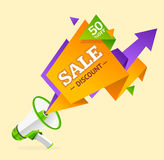 Discount Banner Sticker. Vector Royalty Free Stock Photography