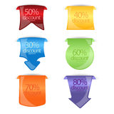 Discount banner,tags or labels Royalty Free Stock Photo