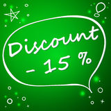 Discount banner template design. Vector illustration background. 15 percent off Royalty Free Stock Images
