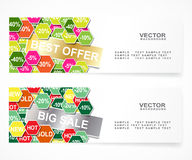 Discount banners Royalty Free Stock Photography