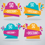 Discount banners Royalty Free Stock Photos