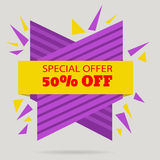 Discount bannert tag Special offer Sale  Offer eps 10  ill Royalty Free Stock Photo