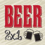 Discount beers Royalty Free Stock Images