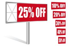 Discount billboard Royalty Free Stock Images