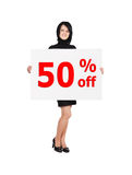 Discount  billboard Royalty Free Stock Photo