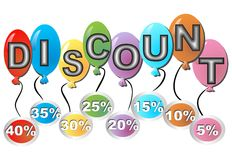 Discount billboard with percent label Royalty Free Stock Image
