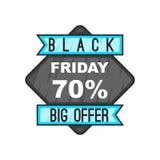 70 Black Friday sale. icon, cartoon style. Discount 70 Black Friday sale. icon in cartoon style isolated on white background illustration stock illustration