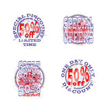 Discount blot02 Royalty Free Stock Photo