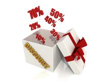 Discount box Royalty Free Stock Images