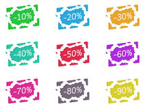 Discount broken label Royalty Free Stock Image