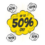 Discount bubble Stock Images