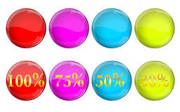 Discount bubbles set Stock Photography