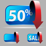 Discount Button Stock Photography