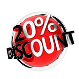 Discount button Royalty Free Stock Image