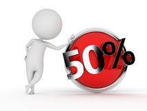 Discount button Royalty Free Stock Photography
