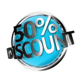Discount button Royalty Free Stock Photo
