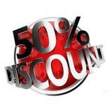 Discount button Royalty Free Stock Photos